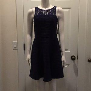 Taylor Navy Dress Size 6, NWT!
